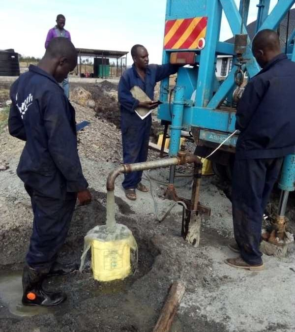 Spring up, O well! (update on our borehole + BIG NEWS)