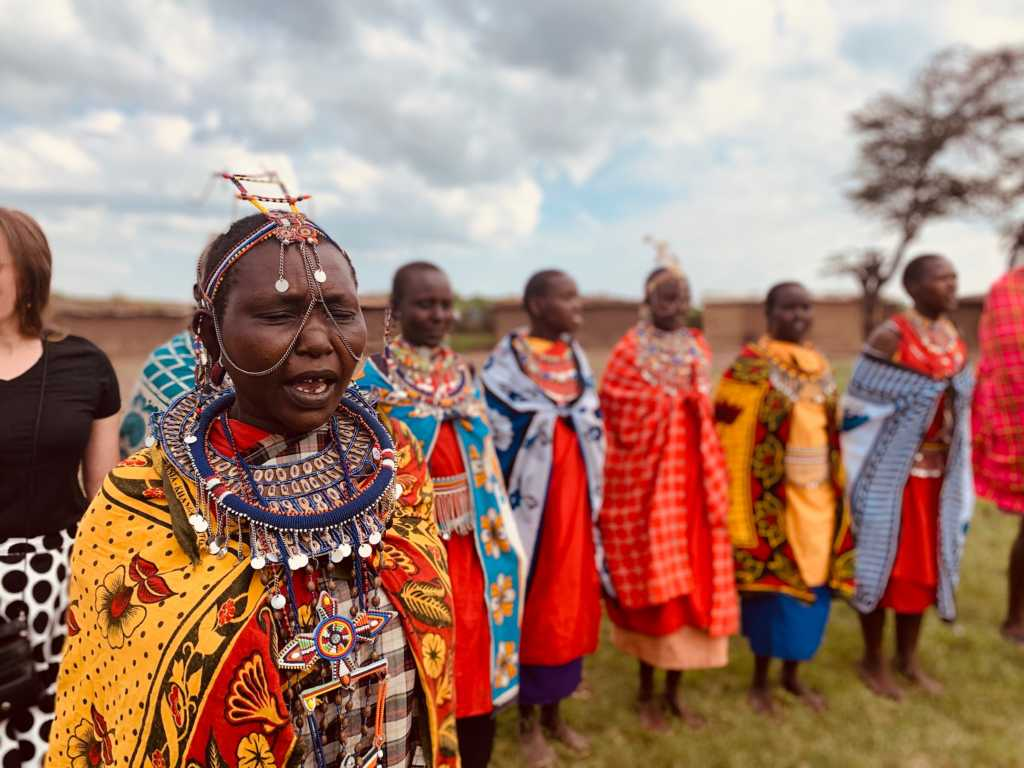 Maasai woman on Africa mission trip